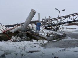 Uništeno pristanište kod Apatina Foto: S.P.Š. / RAS Srbija Uništeno pristanište kod Apatina